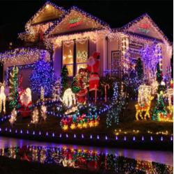 Lichterkette Kupferdraht LED Batteriebetrieben  100 LED 10m Weihnachten